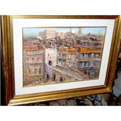 Town of Spain  impressionist  oil by Carreto #897025