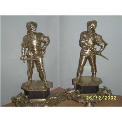Pair of Spanish Bronze conquerors  #897029
