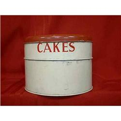 Metal Cake Storage Container or Saver  #897043