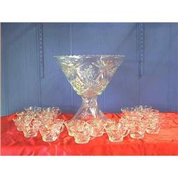 EAPC Star of David Punch Bowl and Cups #897060