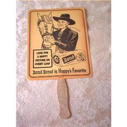 Hopalong Cassidy Paper Fan Bond Bread #897075