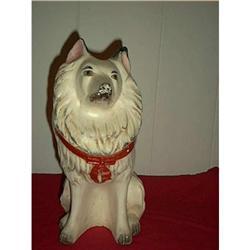 Carnival Chalkware Dog Black & White #897096
