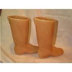Pottery Boot Planters Western   #897101