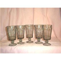 Virginia Tea Glasses by Fostoria Smoke 5 #897118