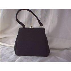 Mutterperl Purse  Black Cloth  #897121