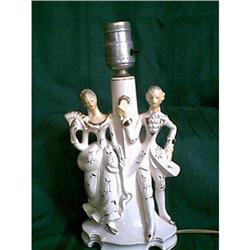 Lamp Victorian Man and Woman #897122