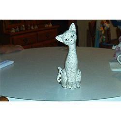 Ceremic Long Neck Cat Figurine #916320