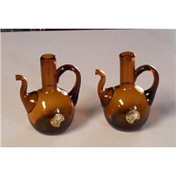 Handblown Amber Decorative Creamers #916327