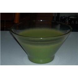 "West Virginia Glass ""Smoke Green""  Bowl #916336"