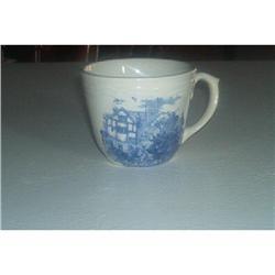 Blue Transferware Coffee Cups #916345