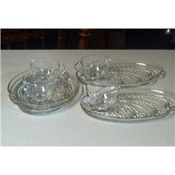 """Homestead"" Snackset By ""Federal Glass"" #916347"