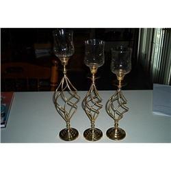 Brass-Beautiful Swirled Candle  Holders #916352