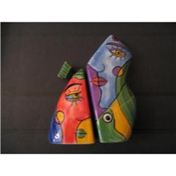 Two Piscasso Salt and Pepper Shakers #917001