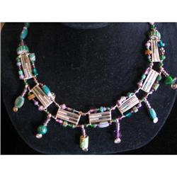 DESIGNED AND HAND WROUGHT Beaded Wire Neckalce #917011