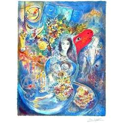 MARC CHAGALL STUNNING BELLA LITHOGRAPH SIGNED  #917014