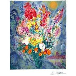 BEAUTIFUL  MARC CHAGALL BOUQUET SIGNED #917015