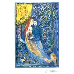 BEAUTIFUL MARC CHAGALL WEDDING SIGNED #917017