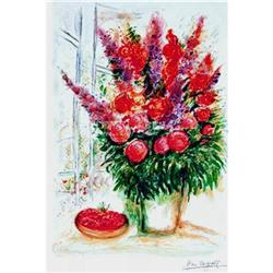MARC CHAGALL BOUQUET with CHERRIES w/COA #917018