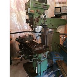 Milling Machine with MillVision Digital Read Out
