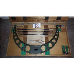 "Mitutoyo 104-153 16-20"" .001"" Interchangeable Anvil Micrometer Set"