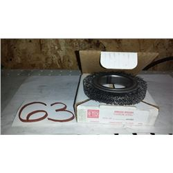 "Omega Carbon Steel Wheel 4"" x 1/2"" (Wire 0.020"")"