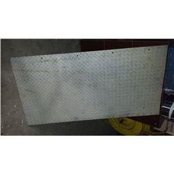 "Aluminum Checker Plate 27""3/8 x 52""1/2 x 1/8"""