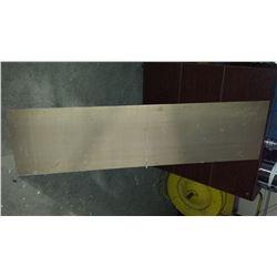"""Aluminum Plate 59"""" x 15""""1/4 x 1/4"""""""