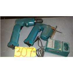 Makita Set of Drill and Jig Saw with Charger (tested)