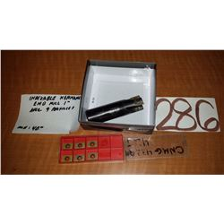 """Kennametal Indexable End Mill 1"""" with inserts"""