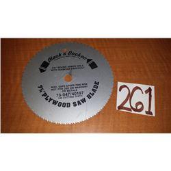 """Black & Decker 7""""1/4 Plywood Saw Blade"""