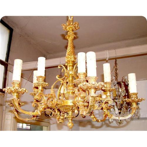 French Bronze foundry 12 lights Chandelier #858122