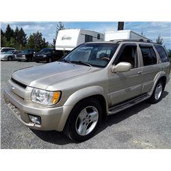 A12G --  2001 INFINITI QX4 SUV, BROWN, 256,155 KMS- No Reserve