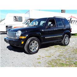 D2 --  2007 JEEP LIBERTY LTD , Black , 276840  KM's