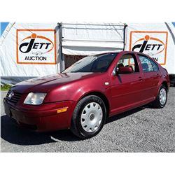 A12 --  1999 VW JETTA GLS  , Red , 179657  KM's