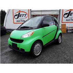 H3 --  2008 SMART FORTWO , Green , 163766  KM's