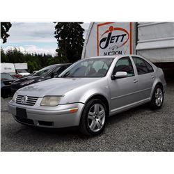 J3 --  2001 VW JETTA GLS , Silver , 218430  KM's