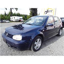J2 --  2002 VW GOLF GLS , Blue , 297110  KM's