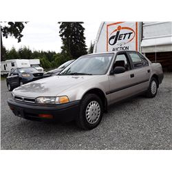 "A8 --  1993 HONDA ACCORD DX , Brown , 545040  KM's ""NO RESERVE"""