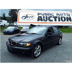 E3 --  2005 BMW 325I  , Black , 217264  KM's