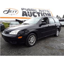 I6 --  2005 FORD FOCUS ZXW WAGON, BLACK, 222,687 KMS