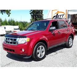 K1 --  2011 FORD ESCAPE XLT  , Red , 188761  KM's