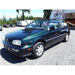 D1 --  1995 VW CABRIO CONVERTIBLE , Green , 216096  KM's