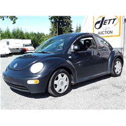 A6 --  1999 VW BEETLE , Black , 330379  KM's