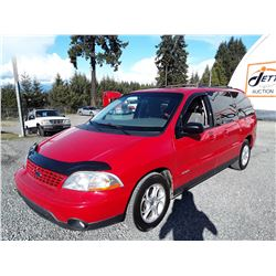 A11 --  2002 FORD WINDSTAR SPORT, RED, 202,430 KMS