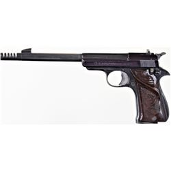 Vintage Star Model F Olympic Rapid Fire .22 short SN 486693 semi automatic pistol, 60-70% blue, stan