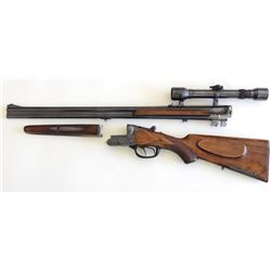 "Pre war Griefelt & Co. 8X57 J.R. SN 37586 O/U right handed German hunting rifle with 25 1/4"" blued b"