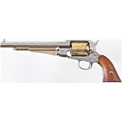 "Reproduction Remington Army .44 cal. percussion revolver made by ASM Italy with 8"" barrel chrome and"