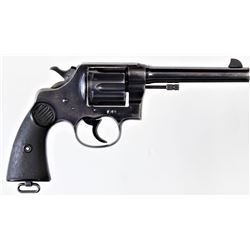 "Colt New Service .45 cal. SN 310761 double action revolver blued finish 5 1/2"" barrel, Colt checkere"