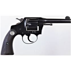"Colt Police Positive .38 cal. SN 175412 1st issue double action revolver with blued finish, 4"" barre"