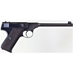 "Colt Pre Woodsman .22 cal. SN 3351 semi auto pistol with 6 5/8"" pencil barrel, blued finish and chec"